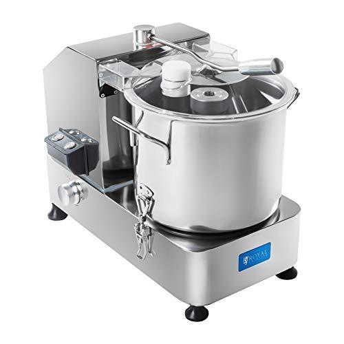 Royal Catering Tischkutter Fleischkutter Küchenkutter Cutter (9 L, 1200 W, 230 V, 1100–2800 U/min, Edelstahl, Nachfüllöffnung, Emulsionsmesser)