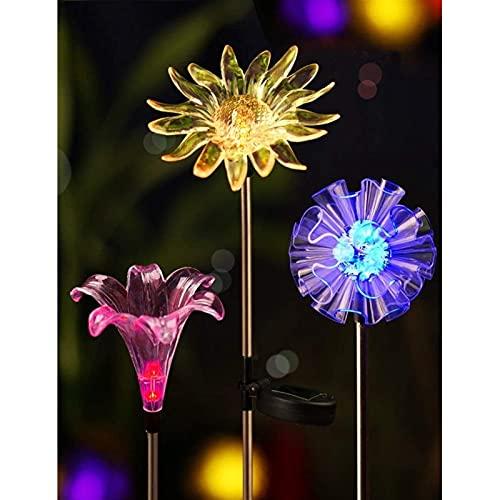 Festoon Lights Set med 3 har flera användningsområden är bekväma slitstarka och ofarliga ljusa solaktlampor Figuriner LED Maskros Lily Sunflower Color Changing