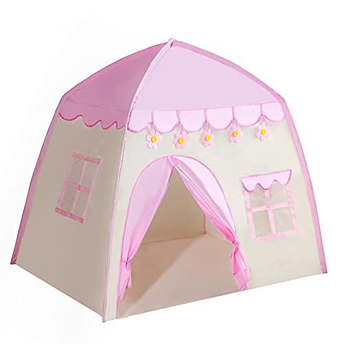 Nye Tenda da Principessa, Tenda da Gioco per Bambini, Tende da Castello per Interni ed Esterni, Decorata con Fiori, Adatta per Il teatro dei Sogni delle Bambine, Rosa