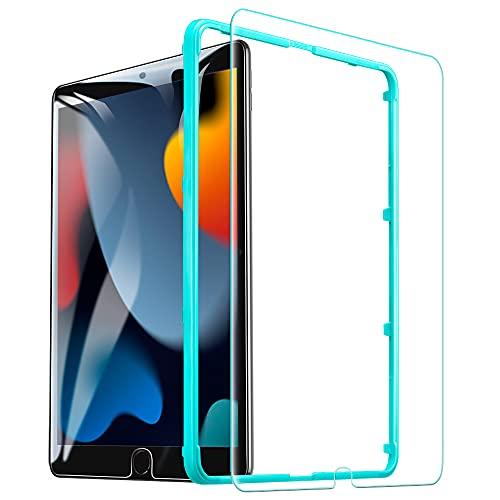 ESR Bildschirm Schutzfolie Kompatibel mit iPad 8 (2020) / iPad 7 (2019) / iPad Air 3 / iPad Pro 10.5 [Gehärteter Bildschirmschutz] [Praktischer Montagerahmen] [Kratzresistent]
