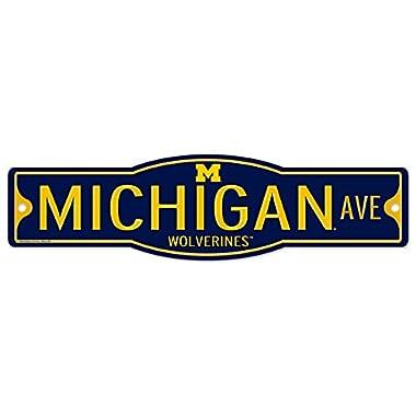 Michigan Wolverines 4  x 17  Street Sign NCAA