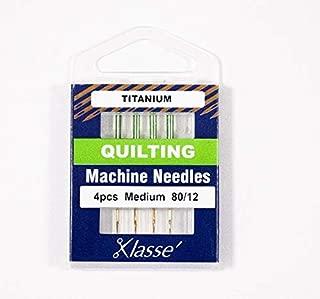 Klasse Titanium Quilting Needles, Size 80/12, 1 Pack, 4pcs, AA5106.T
