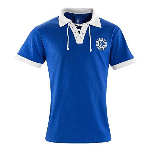Schalke 04 FC Schalke 04 Retro Trikot 1950er Jahre königsblau, XL