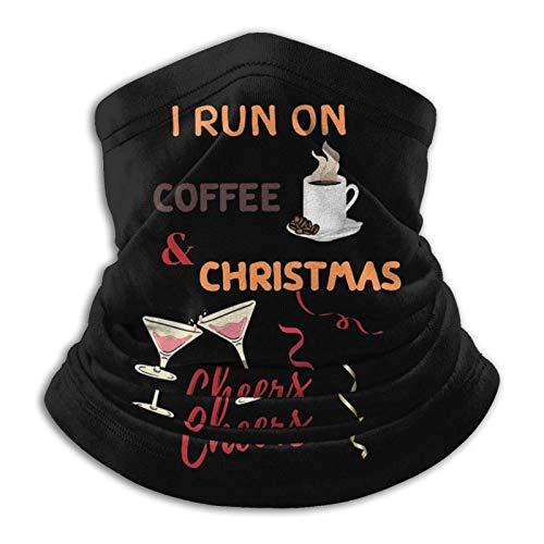 huatongxin Ich laufe auf Kaffee und Weihnachten Prost Unisex Nahtlose Bandanas Hals Gamasche Stirnband Schal