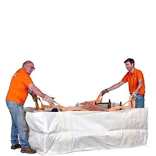 Big Bag Contenedora 3m³ | Bolsa Ultra Resistente como Contenedor de Residuos | Fácil Manejo | Pack de 2
