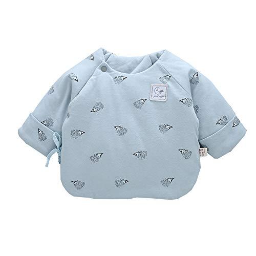 ALLAIBB ALLAIBB Neugeborenes Baby Baumwollplüsch Mantel Cartoon Swaddle Kleidung Herbst Frühling 0-3M Size F (Blau)