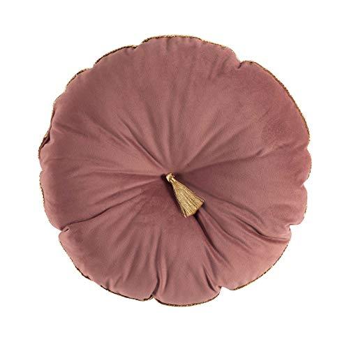 douceur d'intérieur EVER BLOOM COUSSIN POMPON PASSEPOIL, Polyester, ROSE, (0) 38 CM