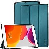 EasyAcc Hülle für iPad 10.2 2019 iPad 7. Generation - Ultra Dünn mit Standfunktion Auto Sleep/Wake Up Funktion Slim PU Leder Hülle Hochwertiges Passt für iPad 10.2 2019, Pfauenblau