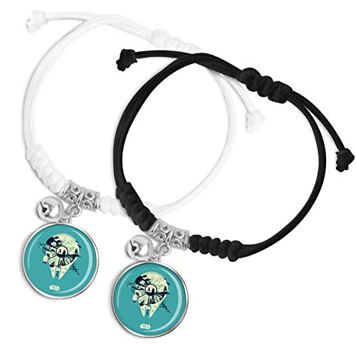 Star-war Valentine's day gifts for boys and girls Couple bracelets Bells Classic hand ropes Modern textures Daily wear Fashion accessories between couples