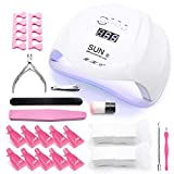UV Led Nail Lamp 72W Gel Nail Light Curing Lamp Nail Dryer UV Light for Gel Nails with 4TimerSetting,Sensor Gel Manicure Kit of 10Pcs