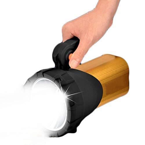 Shhjpy LED oplaadbare handheld schijnwerper high-performance Super Bright tactische schijnwerper fakkel lantaarn zaklamp (goud)
