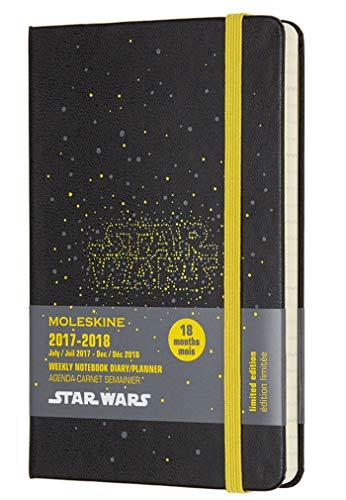 Moleskine Star Wars Agenda Settimanale, 18 Mesi, 2017/2018, Copertina Rigida, Tascabile