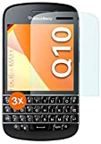 moex Schutzfolie matt kompatibel mit BlackBerry Q10 - Folie gegen Reflexionen, Anti Reflex Bildschirmschutz, Matte Bildschirmfolie - 3X Stück