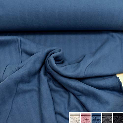 MAGAM-Stoffe Antonia Bio Fleece Stoff 100% Baumwolle Meterware 50cm (2. Blau)