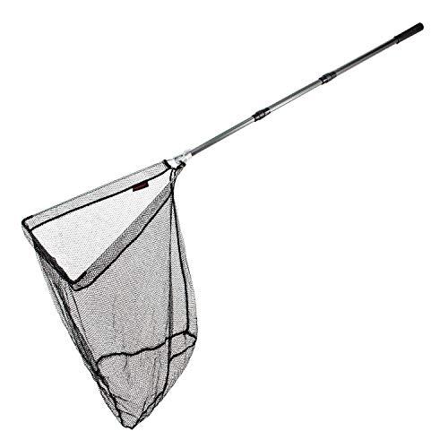 Arapaima Fishing Equipment® Teleskopkescher 'Basic II' mit Metallgelenk | Angelkescher | Klappkescher - Anthrazit - 2,00m