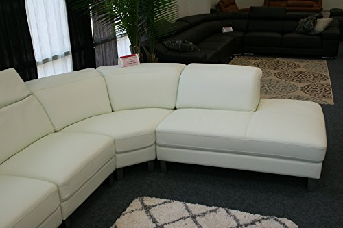 The Lorna Premium Leather White Sectional Sofa 4