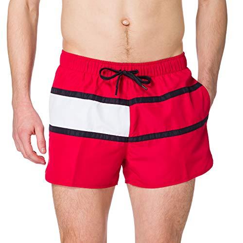 Tommy Hilfiger Runner Costume a Slip, Rosso primario, XL Uomo