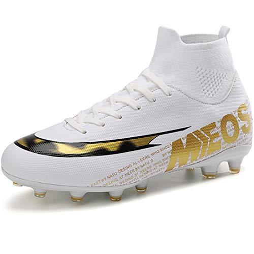 LIANNAO Botas de Fútbol para Hombre Spike Zapatillas de Fútbol Profesionales Atletismo Training Zapatos de Fútbol Exterior Deporte Entrenamiento Zapatos de Fútbol