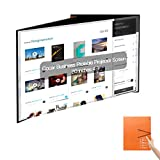 20 inch Projection Screen, 4:3 Portable Desktop Foldable Projection Screen PVC Fabric for Pico DLP Projector Home Commercial Session Outdoor Indoor Meeting Teaching Theater