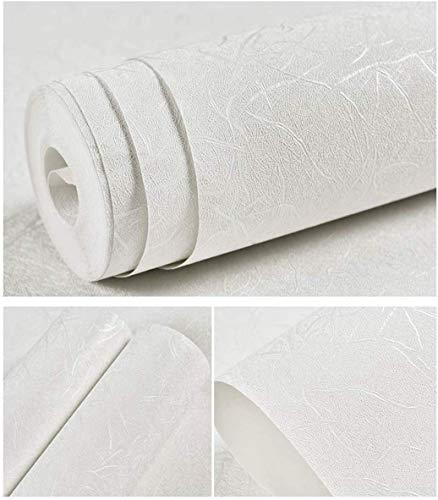 Yizunnu 3 / 6m Papel de contacto autoadhesivo con textura de seda, papel pintado de vinilo y cáscara de vinilo, muebles, cocina, decoración del hogar, adhesivos de pared, película (6M Blanco)
