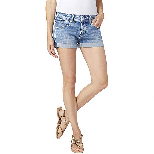 Pepe Jeans Siouxie Pantalones cortos de mezclilla, Azul (Denim 000), 31 para Mujer