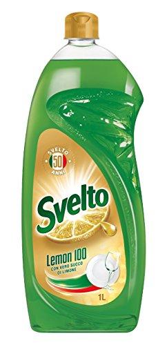 Svelto Detergente Stoviglie Limone - Casepack 12 unità, 12 x 1000 ml