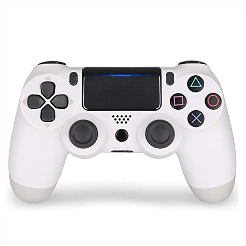 Xcmenl Wireless Controller für PS4 Slim/PS4 Pro,USB Controller für PC,Bluetooth Gamepad mit Dual-Vibration Audiofunktionen Playstation Controller Joystick - Weißer Klassiker