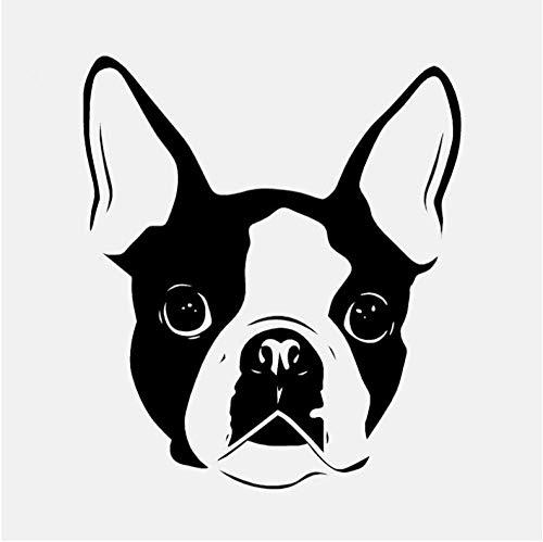 Neuheit Tier Boston Terrier Wandaufkleber Halloween Pvc Vinyl Kunst Diy Geschenk Kunst Dekor Schlafzimmer Hause Wandaufkleber 49 * 57C M