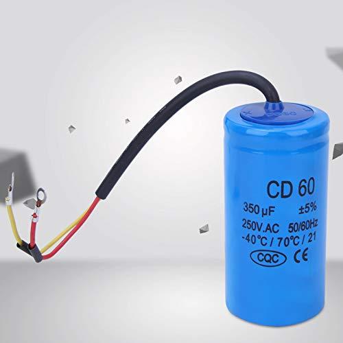Buena propiedad de autocuración 350uf 250V AC Motor Condensador de funcionamiento Condensador de arranque del motor para frigorífico y aire acondicionado