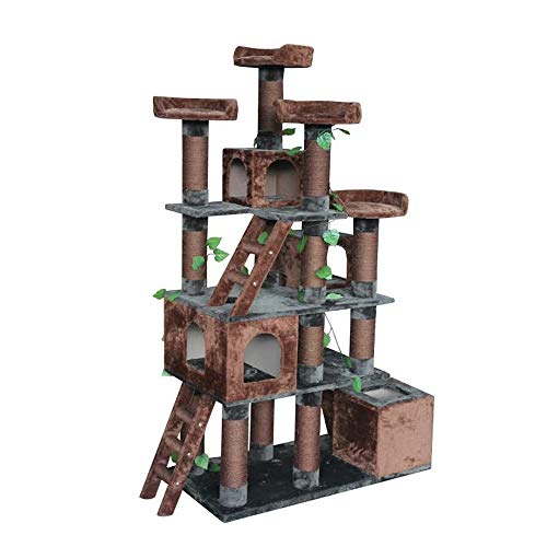 """Kitty Mansions Big Horn Cat Tree, 81"""" H"""