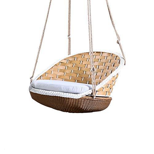 Silla Colgante de oscilación de Interior for Adultos Que cuelga la Silla Mecedora balcón Sola Patio al Aire Libre oscilación Silla Colgante de ratán