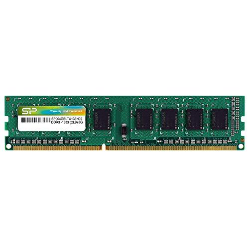 シリコンパワー メモリモジュール 240Pin DIMM DDR3ー1333 PC3ー10600 4GB ブリスターパッケージ SP004GBLTU133N02