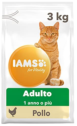 IAMS for Vitality Cibo Secco con Pollo Fresco per Gatti Adulti, 3 kg
