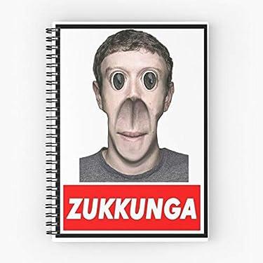 Web Creepy Meme Creepypasta Zuckerberg Zukkunga Scary Mark Cute School Five Star Spiral Notebook With Durable Print