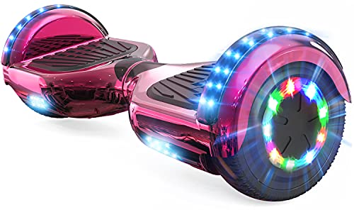 RCB Hoverboard para niños, Patinetes autoequilibrio con función de música Bluetooth - Luces de Colores LED - Potente Motor, niños y Adolescentes