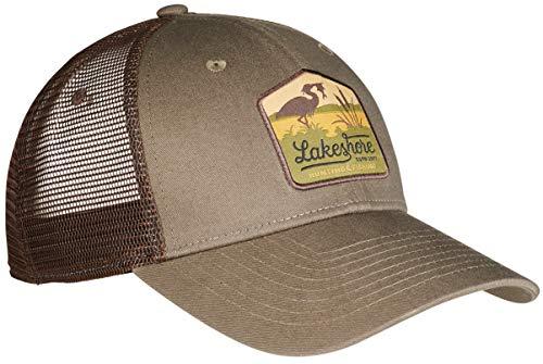Lakeshore® Jagd Cap, Angel, Outdoor Kappe, Olive, 100% Baumwolle und Mesh, Damen und Herren