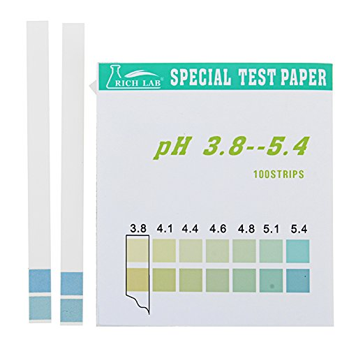 EsportsMJJ Precisie PH Test Strips Korte Bereik 3.8-5.4 Indicator Papier Tester 100 Strips Boxed w/Kleur Grafiek