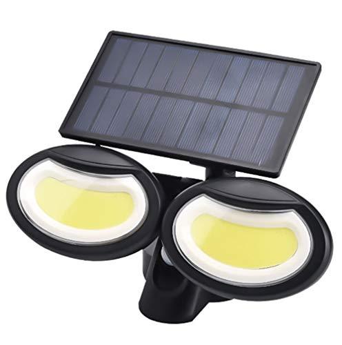 Solar Luces al Aire Libre, 108 LED Solar de la luz de inundación de IP65 a Prueba de Agua, Ajustable 360 ° de ángulo Amplio para Garaje, jardín, Patio, Patio, Pathway