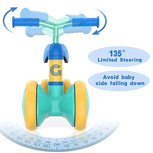 Gonex Baby Balance Bike for 18-36 Month Old Boys and Girls, Adjustable Children Walker Push Bike, Toddler Ride on Toys First Birthday Gift (Blue)