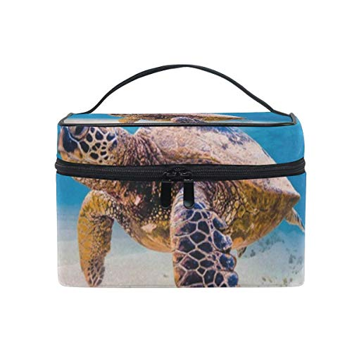 Trousse de maquillage Sea Cute Turtle Cosmetic Bag Portable Large Toiletry Bag for Women/Girls Travel