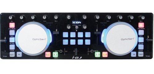 iCON i-DJ - Controlador MIDI/DJ con platos táctiles (mini USB), color negro