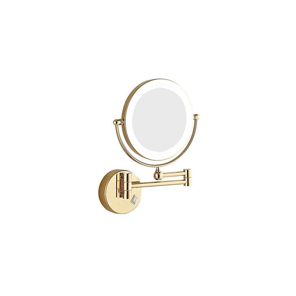 Miroir grossissant, Miroirs muraux, Miroir télescopique de salle de bains, miroir suspendu, lampe de salle de bain…