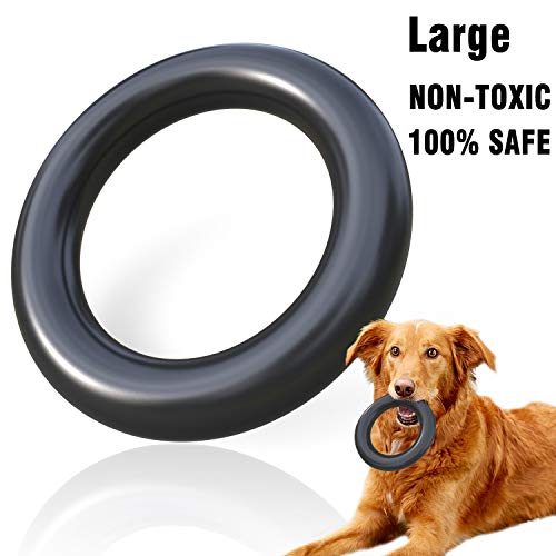 MigooPet Dog Chew Toys Tough Dog Toys for Aggressive Chewers - Lifetime Replacement - Non-Toxic Natural Rubber Small Large Dog Toys Durable Dog Toys for Small Large Dogs (Large, Black)