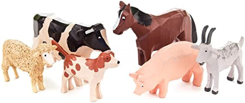 Miniatur-Reifentiere in Spandose - Dregeno Erzgebirgische Holzkunst - Artikel 230 3005