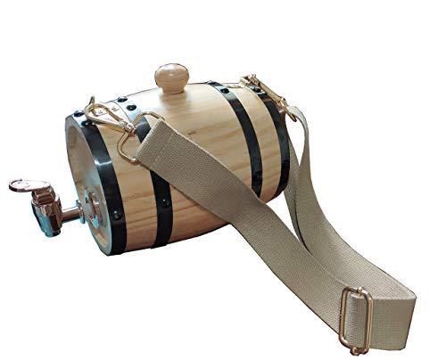 Collar de barril de rescate de St Bernard, collar de barril de San Bernardo para perro, barril de 1/2 litros con aros ajustables para mascotas (barril de 3/4 litros)
