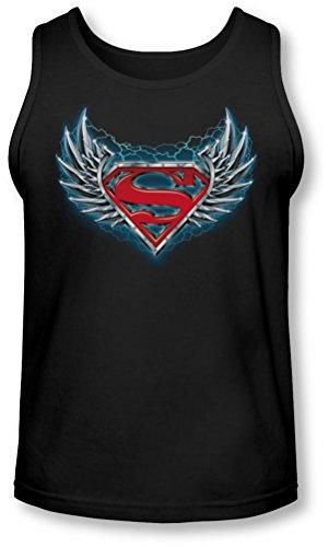 Superman - - Steel Wings Logo Tank-Top pour hommes, Medium, Black