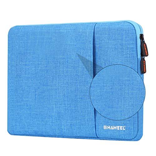 Yarnow 1Pc Laptop-Hülle Fall Schutz Notebook Handtasche Business Aktentasche mit Trolley Gürtel Tragbare Tragetasche Multifunktions-Ultrabook Computer-Abdeckung Tasche für Männer