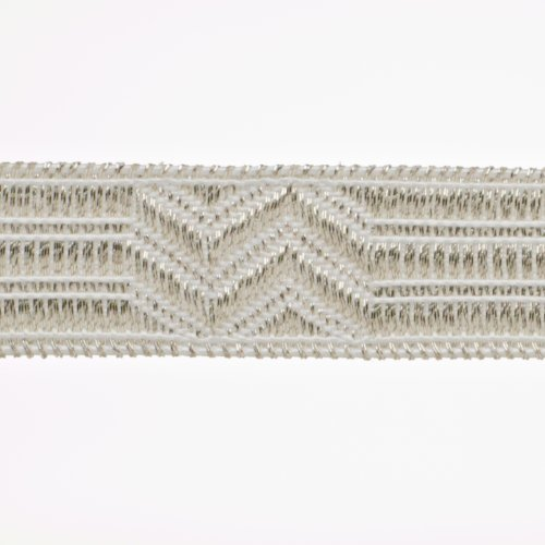 Euro-Band Uniform-Tresse, Stoff, Silber, 500 x 15 cm