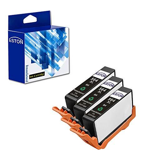 ESTON 3 x Replacement for 564XL Black Ink Cartridges High Yield Fit for Photosmart 5520 6520 7520 5510 6510 7510 7525 B8550 C6380 D7560 Premium C309A C410 Officejet 4620 Deskjet 3520