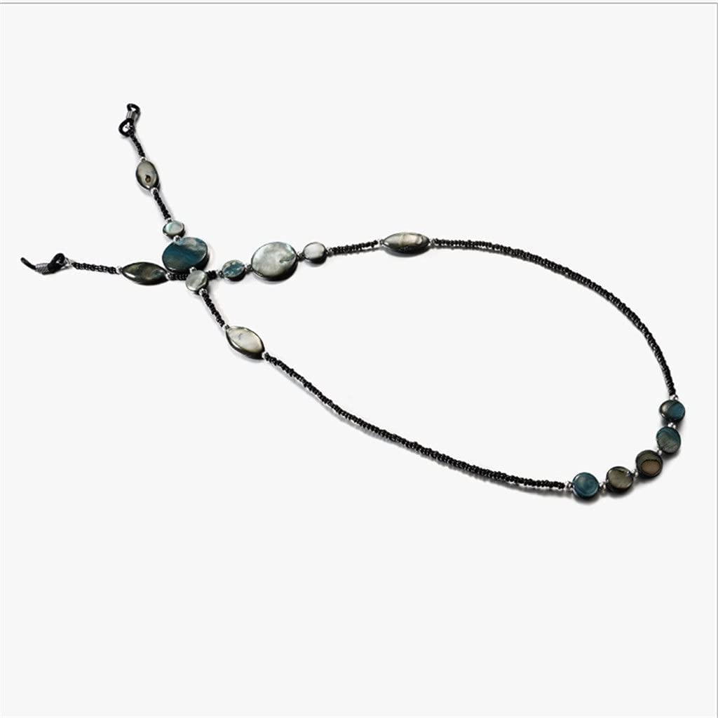 XJJZS Bohemian Textured Colorful Stone Chain Cords Reading Glasses Chain Women Sunglasses Accessories Lanyard Hold Straps (Color : A, Size : Length-70CM)